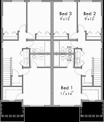 house plans open floor plan duplex house plan row house plan open floor plan d 605