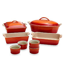 oven to table bakeware sets le creuset 10 piece bakeware set bed bath beyond
