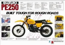 racing cafè vintage brochures suzuki pe 250 1978 usa