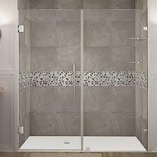 lesscare ultra d 72 u0027 u0027 x 79 u0027 u0027 single sliding shower door with
