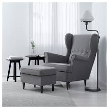 Ikea Chairs Living Room by Strandmon Footstool Nordvalla Dark Grey Ikea