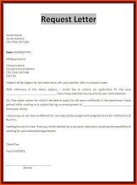 format of request letter to company request letter sle request letter sle formal letter sles