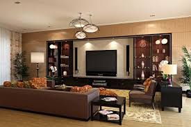 Reddish Brown Leather Sofa Home Theater Room Size Brown Wood Book Shelves For Rugs