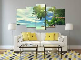 chambre de d馗ompression hd imprimé tropical paradise côte groupe peinture décoration