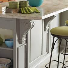 kitchen island with corbels kitchen island design ideas masterbrand cabinets