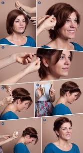 do it yourself short haircuts diy short hair faux updo hair pinterest diy shorts updo