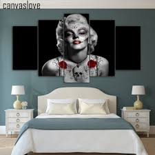 canvaslove 5 pieces canvas paintings day of the dead marilyn
