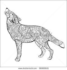 coloring page of wolf cartoon wolf stock images royalty free images u0026 vectors