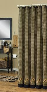 Chezmoi Collection Curtains amazon com park designs sunflower check shower curtain 72 by 72