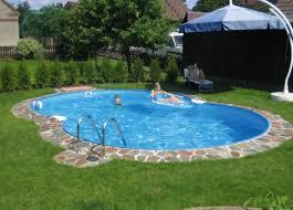 above ground lap pool decofurnish backyard backyard landscaping with above ground pool backyards