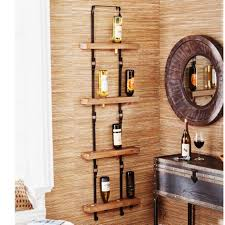 wall mounted metal wooden wine racks kits design rack appealing