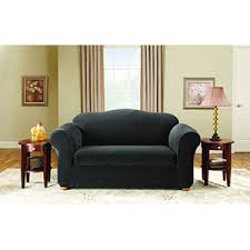 Black Loveseat Slipcover Wingback Loveseat Slipcover Including Sure Fit Perfect Fit