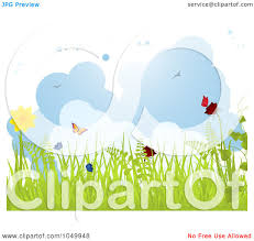 royalty free rf clip art illustration of a spring background of
