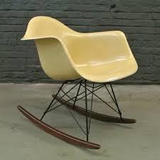 rar ochre light rocking chair by charles u0026 ray eames for herman