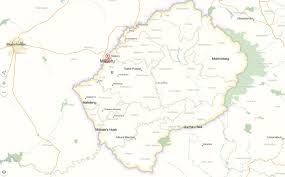 Lesotho Map Moyeni Map