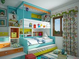 teens room kids loft bed features green platform bed with colorful