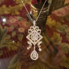 antique sterling silver necklace images Double accent sterling silver rhodium plated oval cut cubic jpg
