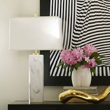 tall canaan marble white shade table lamp modern table lamps