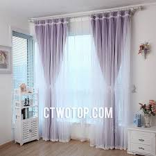 Silver Purple Curtains Bedroom Elegant Stylish Lace Curtains With Sheer And Rose Lace