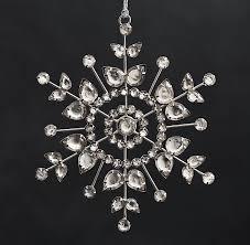 restoration hardware glass snowflake in flower