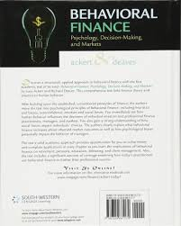 behavioral finance psychology decision making and markets lucy