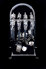 cutlery set with stand cutlery set u0026 stand holder 6 person