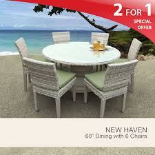 60 inch dining room table new haven 60 inch outdoor patio dining table with 6 chairs