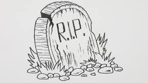 how to draw a halloween tombstone cartoon comic doodle 9 youtube