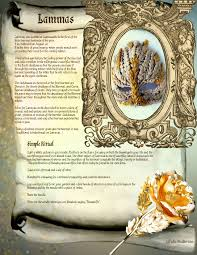 lammas free page for your book of shadows spell pages for your