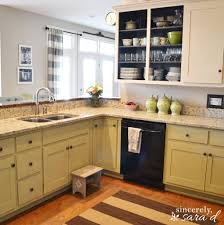 Painting Kitchen Cabinets With Annie Sloan Chalk Paint Painting Kitchen Cabinets With Chalk Paint Update Sincerely