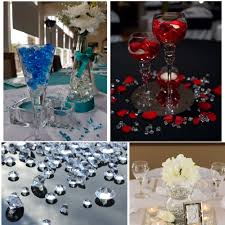 diamond party supplies 2 carat clear wedding table scatter crystals diamond decoration