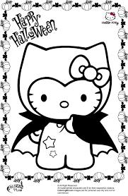 hello kitty vampire halloween coloring pages dibujos blanco y