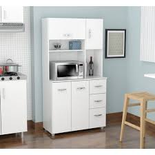 Kitchen Microwave Pantry Storage Cabinet Inval America Llc Laricina White Kitchen Storage Cabinet Laricina