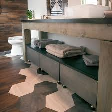 Bathroom Vanity Makeover Ideas by Custom Built Vanity With Storage Made With 6x6 P T Wood Tutorial