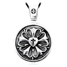 sterling silver rose necklace images Luther rose seal symbol lutheran cross solid sterling jpg