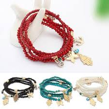 beads bracelet images Beautiful 5 in 1 hamsa beads bracelet set best value collection jpg