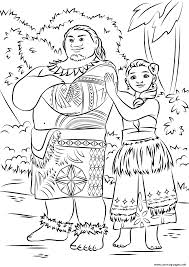 print tui sina moana disney coloring pages disney