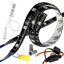 motorcycle led lighting kit weatherproof rgb color changing led