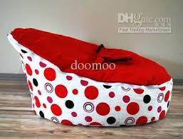 best baby bean bag kids sofa chair cover pink dots hearts