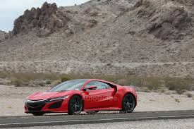 Acura Nsx Power 2016 Acura Nsx Spied Testing In The Wild In Production Ready Red