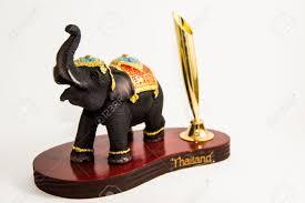 thailand elephant color black resin for input pen home decor