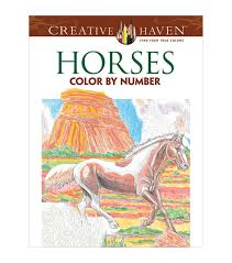 coloring book creative haven horses color by number joann