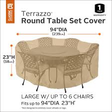 Round Patio Furniture Covers - classic accessories terrazzo patio table u0026 chair set round