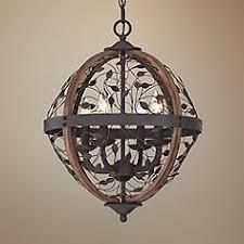 Wood Orb Chandelier Wood Orb Chandeliers Lamps Plus