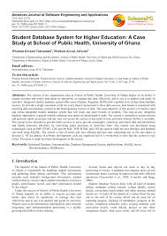 student database system for higher education a case study at