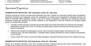 Sample Resume Secretary by Medical Secretary Resume Secretary Resume Description Job