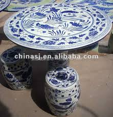 chinese porcelain garden table and stool wryay18 jingdezhen