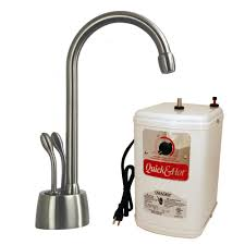 stainless steel instant hot cold water dispensers kitchen develosah 2 handle instant hot cold water dispenser faucet in stainless steel with hot