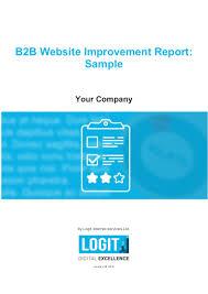 Sample Seo Analysis Report B2b Website Improvement Report Sample