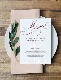 personalized cards wedding best 25 wedding menu ideas on wedding menu cards